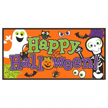 Halloween Family Friendly Large Horizontal Banner 65 in.