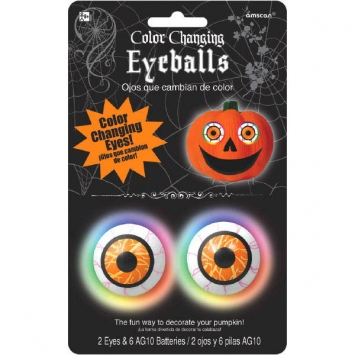 Color Changing Pumpkin Eyeballs Light
