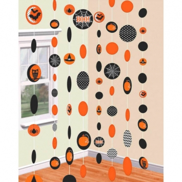 Modern Halloween String Decorations 8ct