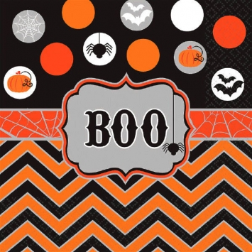 Modern Halloween Luncheon Napkins 16ct