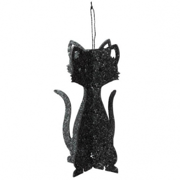 3-D Black Cat Decoration 11.5 in.