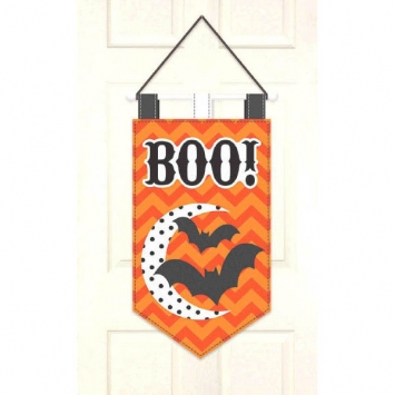 Modern Halloween Felt Door Banner 19.5 in.