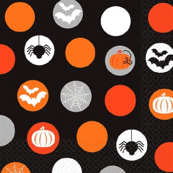 Modern Halloween Beverage Napkins 16ct