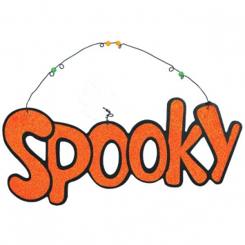 Spooky Large Sign 13.5 in.