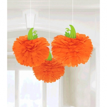 Modern Halloween Pumpkin Fluffies 3ct
