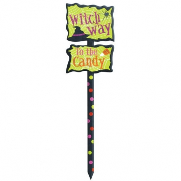Witch Way  21.5 Inch Yard Sign