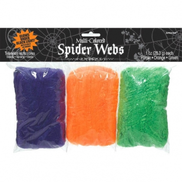 Multi Colored Stretchable Polyester Spider Web 3 oz.
