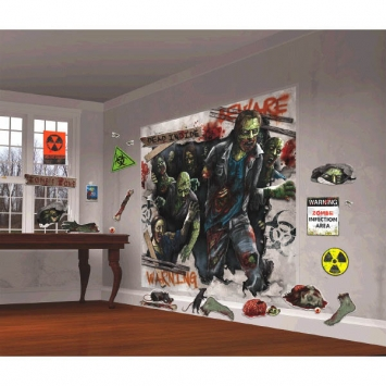Zombie Scene Setters Mega Value Wall Decorating Kit 32pcs
