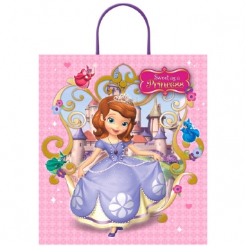 Disney Sofia The First Plastic Handle Treat Bag