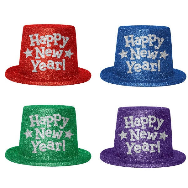 Happy New Year Top Hats - Jewel Tones