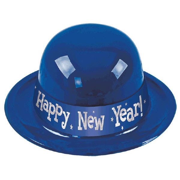 Happy New Year Derby Hat - Blue