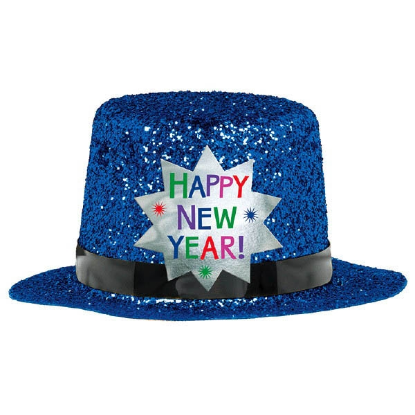 Mini Glitter Top Hat - Blue