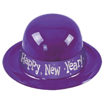 Happy New Year Derby Hat - Purple