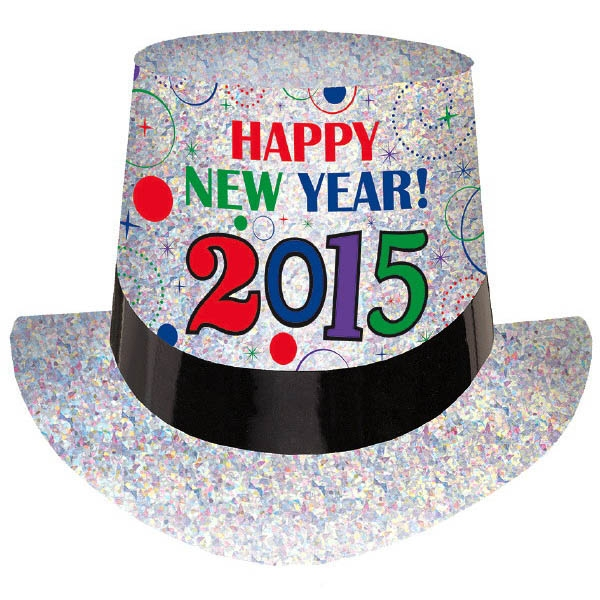 2015 New Year's Top Hat - Jewel Tones