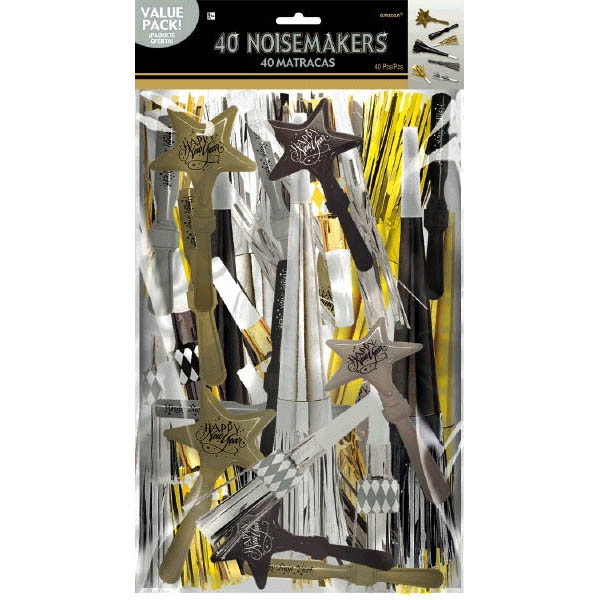 Noisemakers Value Pack - Black Silver & Gold