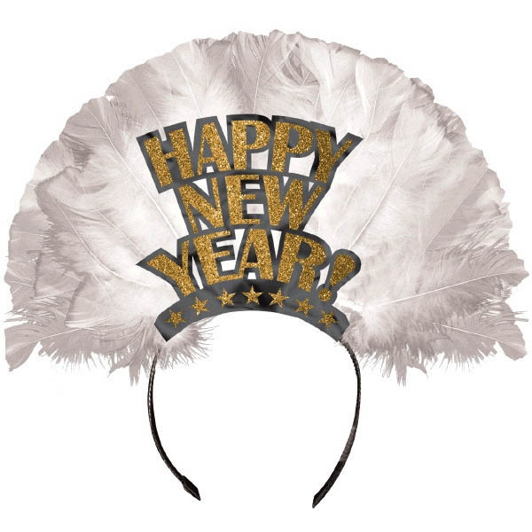Happy New Year Deluxe Tiara - Gold