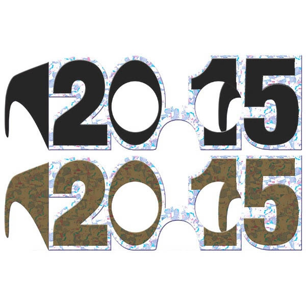 2015 New Year's Prismatic Frames Multipack - Black Silver & Gold