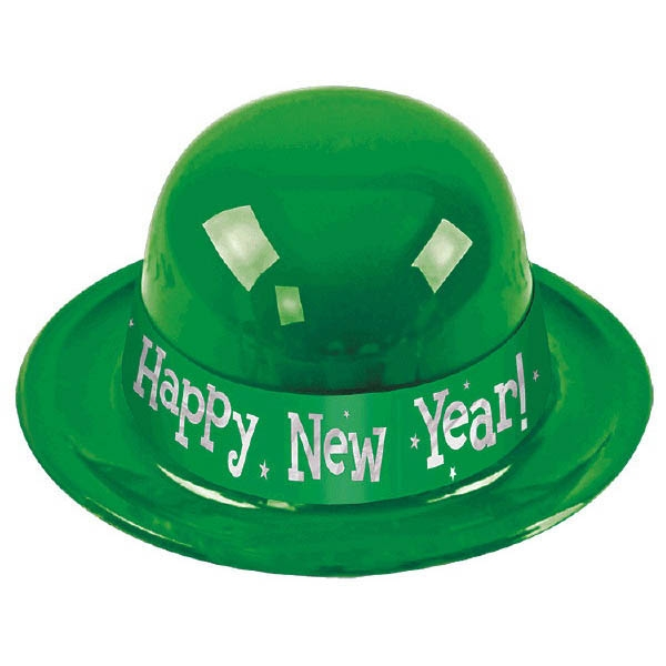 Happy New Year Derby Hat - Green