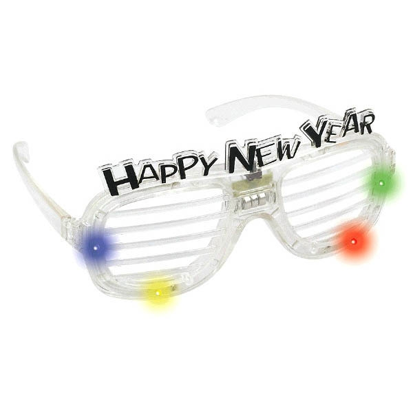 Happy New Year Slotted Glasses