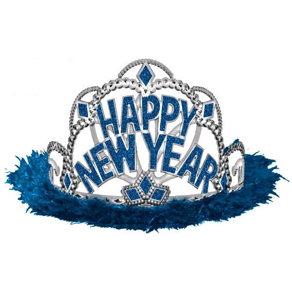 Happy New Year Tiara - Blue