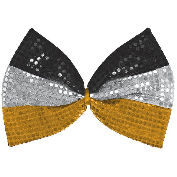 Happy New Year Giant Bow Tie - BlackSilverGold