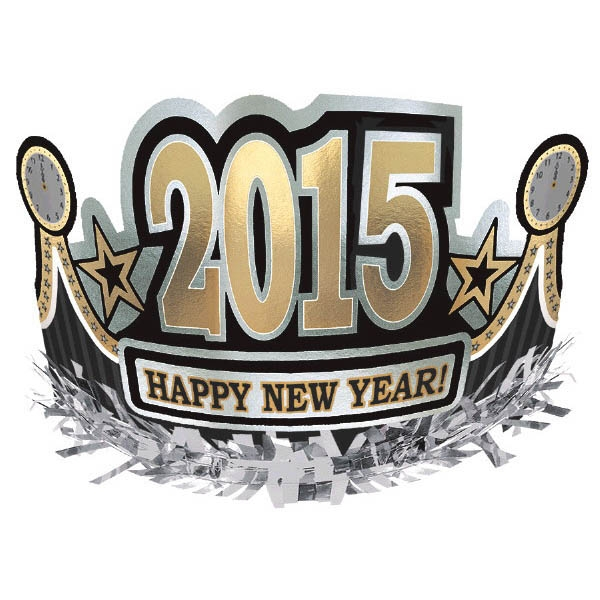 2015 Happy New Year Crown - BlackSilverGold