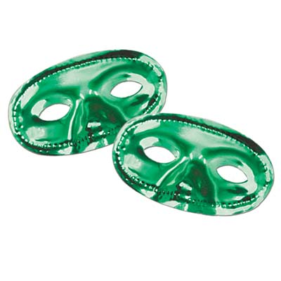 Metallic Half Mask- Green
