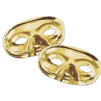 Metallic Half Mask- Gold