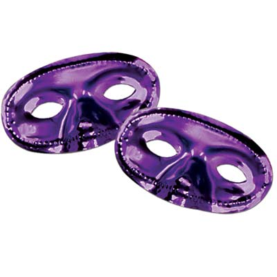 Metallic Half Mask- Purple