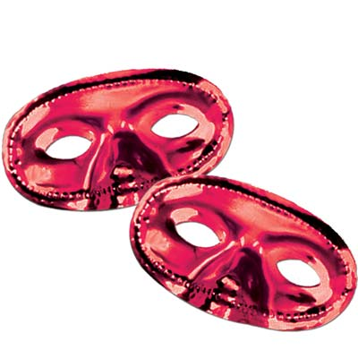 Metallic Half Mask- Red