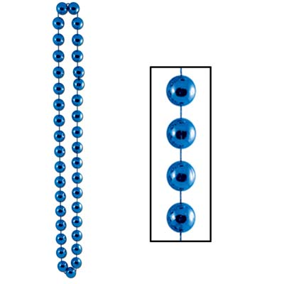 Jumbo Party Beads 22mm x 40 in- Blue