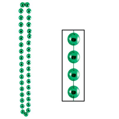 Jumbo Party Beads 22mm x 40 in- Green