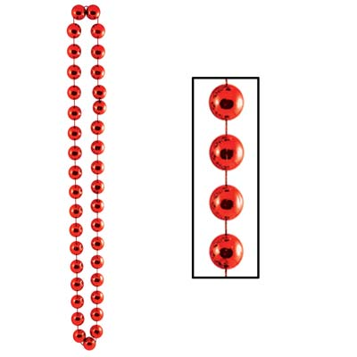 Jumbo Party Beads 22mm x 40 in- Red