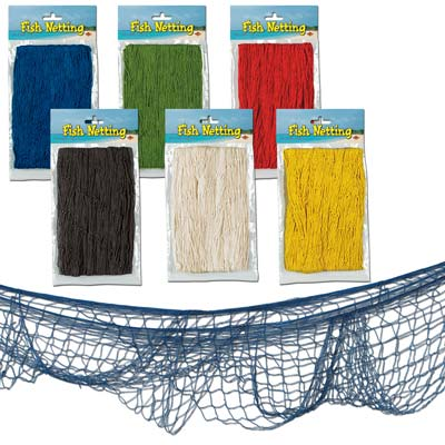 Fish Netting 4x12ft - Asstd colors