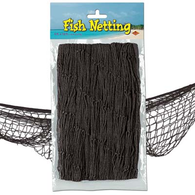 Fish Netting 4x12ft - Black
