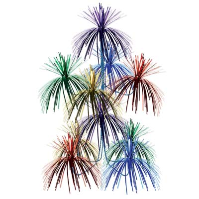Firework Chandelier 24x12in multi-color