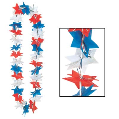 Patriotic Star Party Lei 36