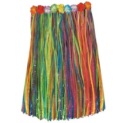 Child Artificial Grass Hula Skirt 27W x 20L