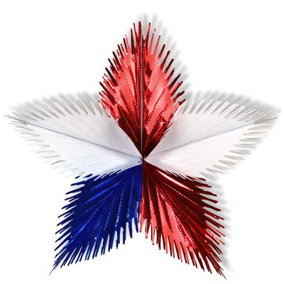 Leaf Starburst 16in - Red White Blue