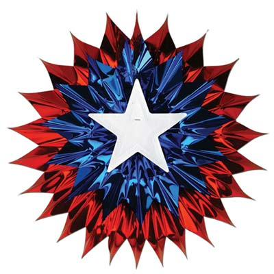 Patriotic Fan-Burst 15in
