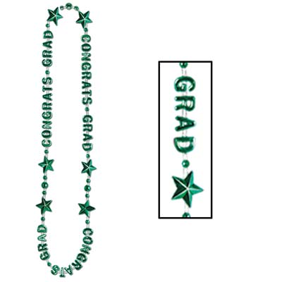Congrats Grad Beads-Of-Expression 36in - Green