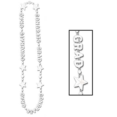 Congrats Grad Beads-Of-Expression 36in - White