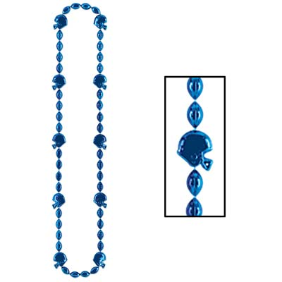 Football Beads 36in - Blue