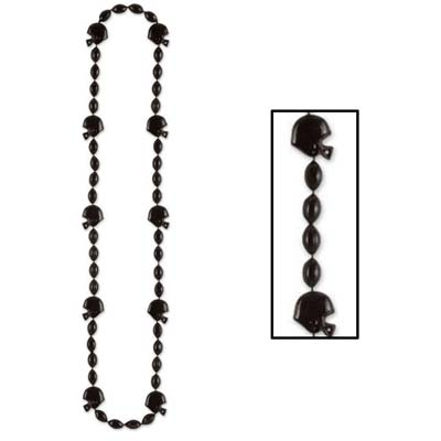 Football Beads 36in - Black