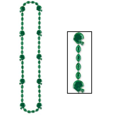 Football Beads 36in - Green
