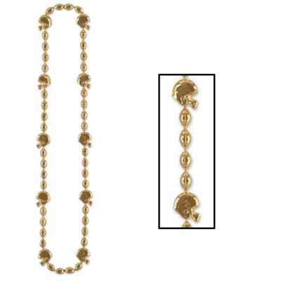 Football Beads 36in - Gold