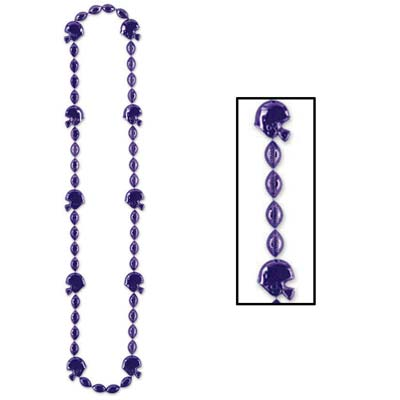 Football Beads 36in - Purple