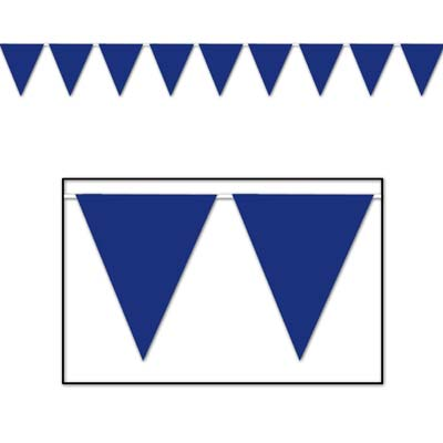 Indoor and Outdoor Pennant Banner - 10in x 12ft - Blue