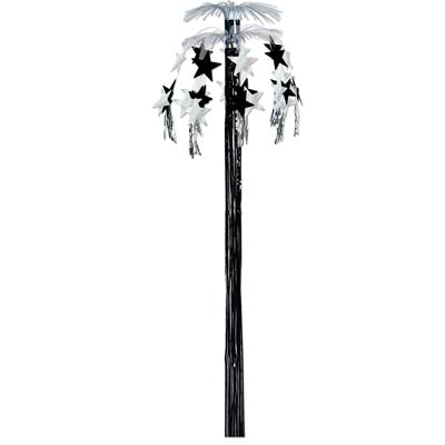 Star Cascade Fountain 8ft black & silver