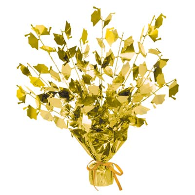 Graduate Cap Gleam 'N Burst Centerpiece 15in - Gold